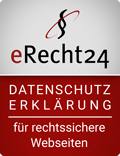 eRecht24 Siegel -Datenschutz für sichere Webseiten