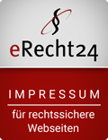 eRecht24 Siegel -Impressum für sichere Webseiten