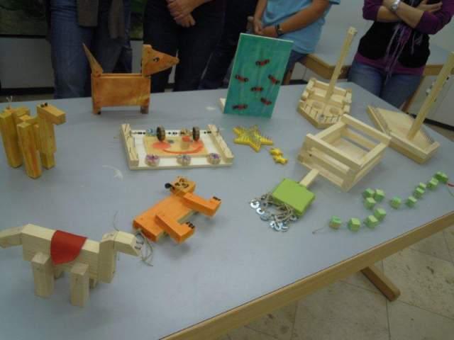 Beispiele für selbstgebastelte Holzteile