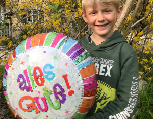 Helium Luftballon für Geburtstag